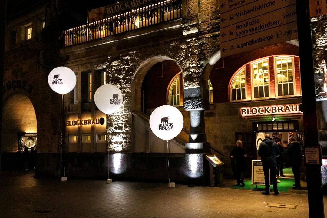 Leuchtballons mieten bedruckt 150 cm
