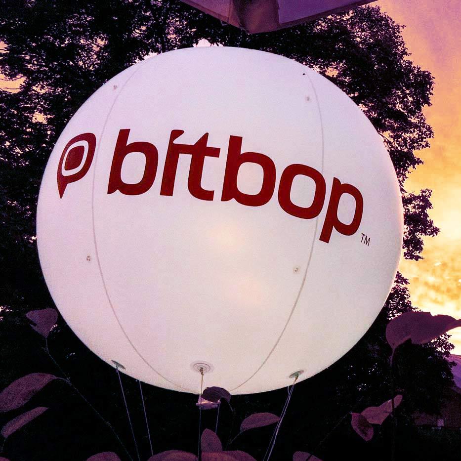 200 cm Messeballons mit bitpop-Logo